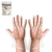Luva Plástica Polietileno Descarpack Tamanho Único (100 unidades)