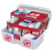 Maleta Primeiros Socorros Medicamento 2 Bandejas Articuladas