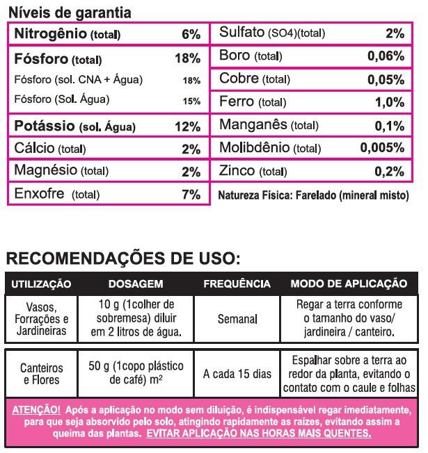 Adubo Fertilizante Forth Flores 3Kg Jardineira Completo