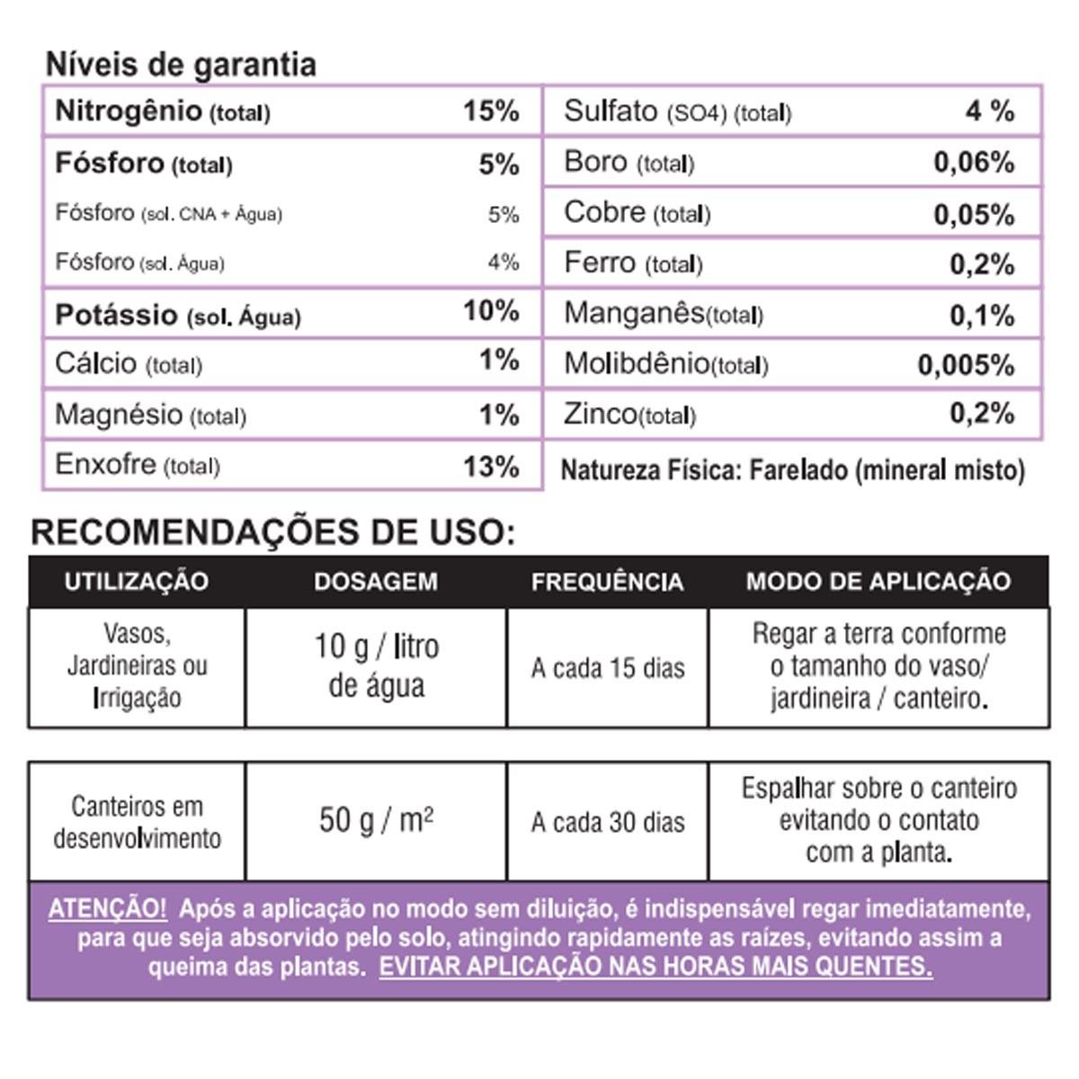 Adubo Fertilizante Forth Hortaliças 400g