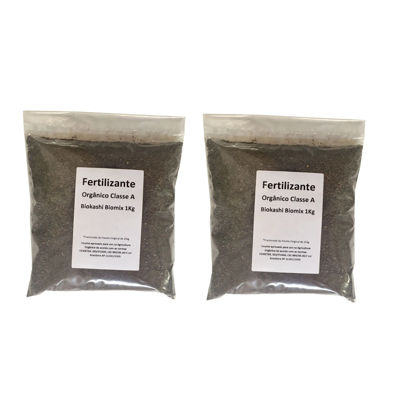 Adubo Fertilizante Orgânico Biokashi Biomix 2kg Bokashi