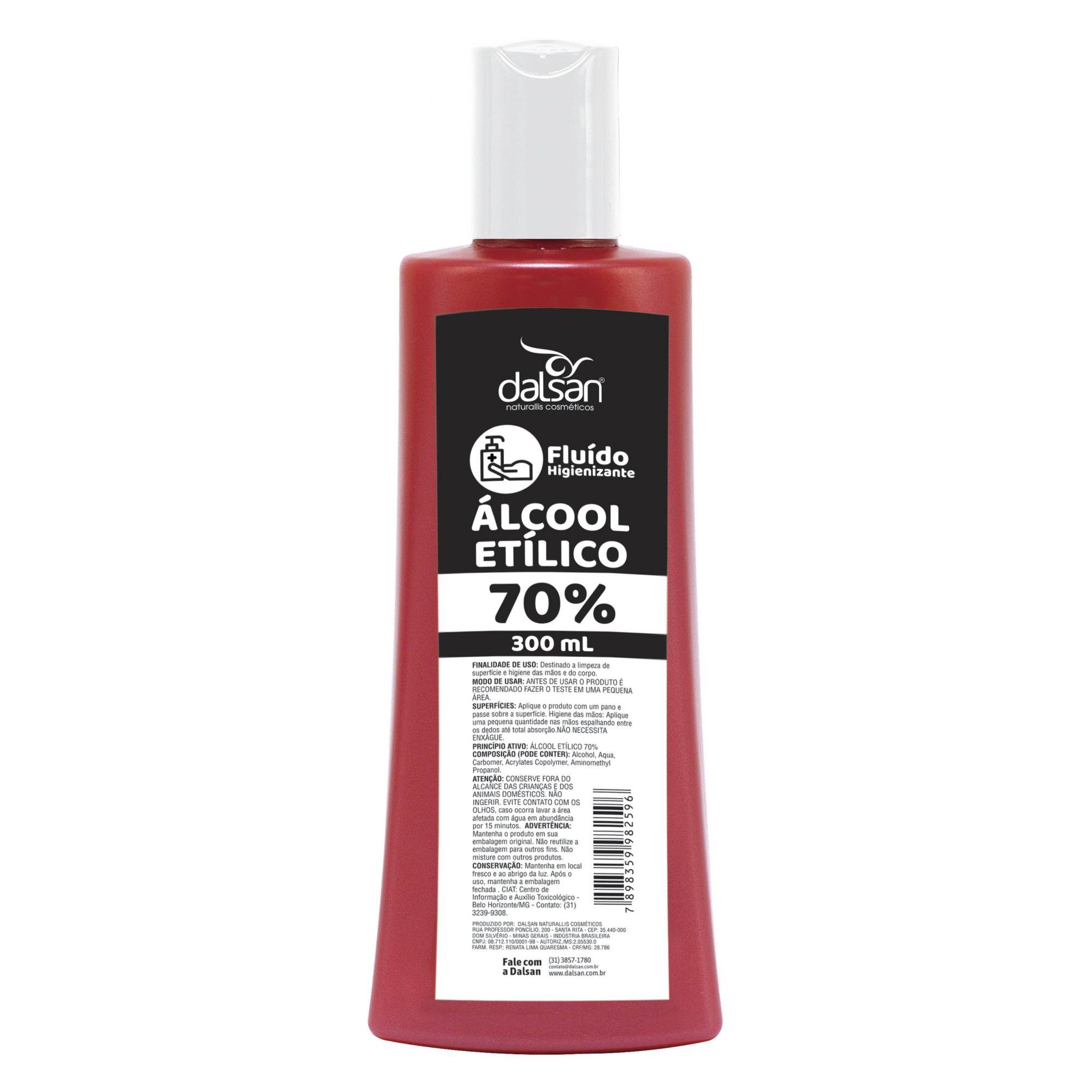 Álcool em Gel Antisséptico Etílico 70% Higienizador Maos Corpo Limpeza Superficie
