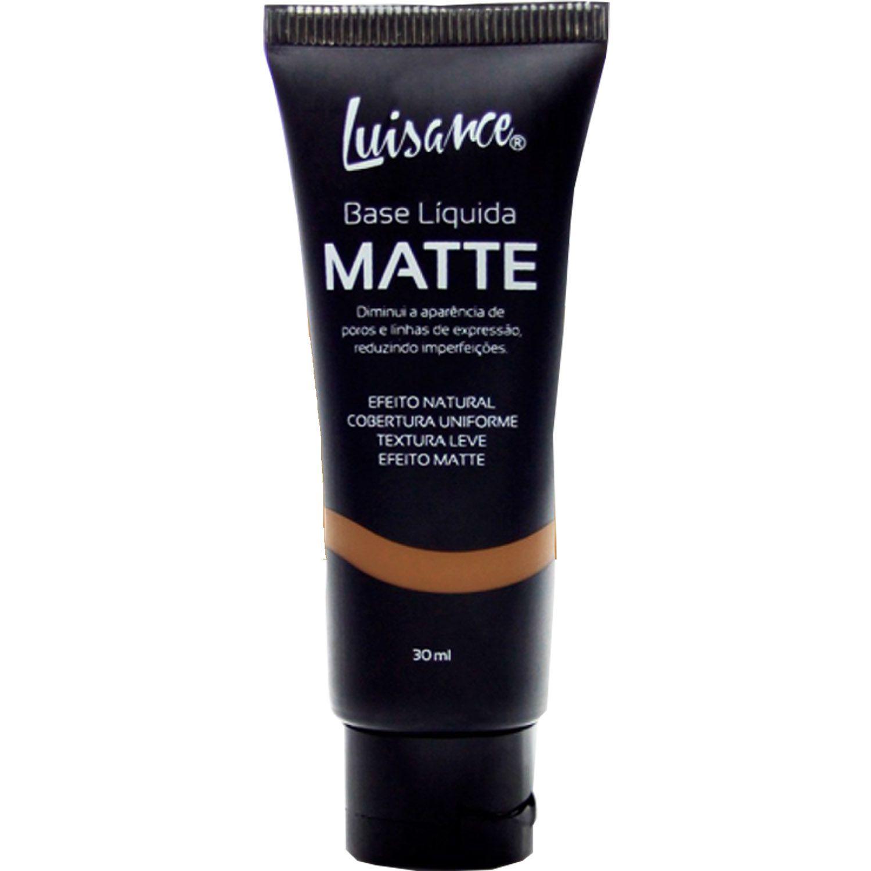Base Líquida Matte Alta Cobertura Longa Duração Maquiagem