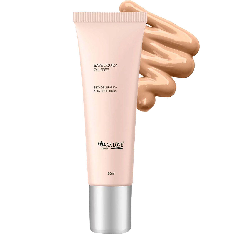 Base Líquida Matte Oil-Free Maquiagem Alta Cobertura