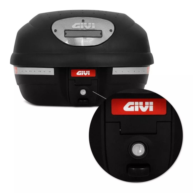Bau Bauleto Moto Givi E33NT Universal 33 L Monolock Fumê