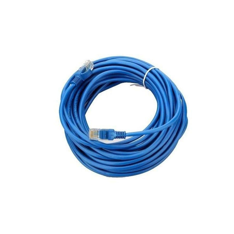 Cabo de Rede Crimpado Internet 10 Metros Conector RJ45 Azul
