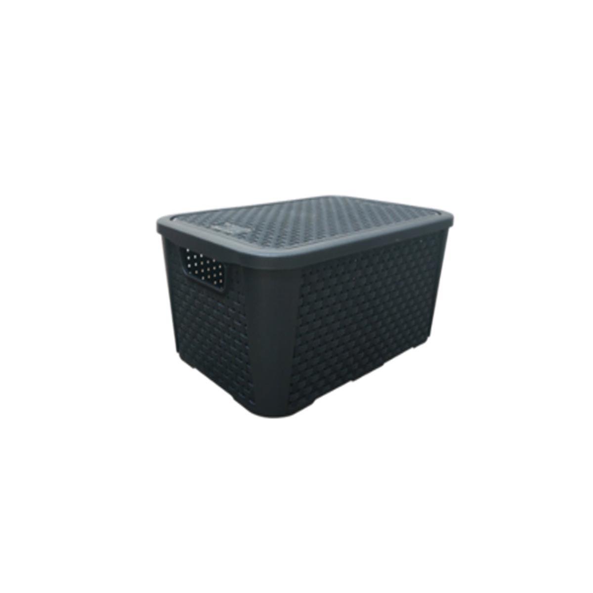 Caixa Organizadora Plástica Plasnew Rattan Nº 2 8,8L 32x23x15cm - 2051