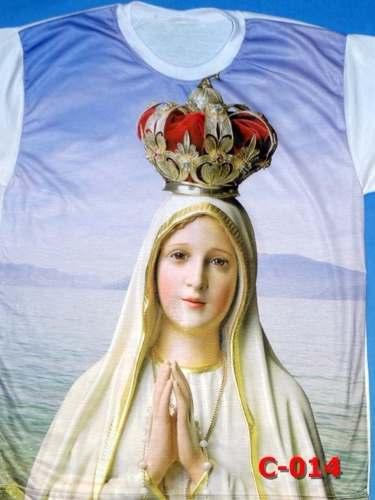 Camiseta Catolica  Religiosa Nossa Senhora De Fatima