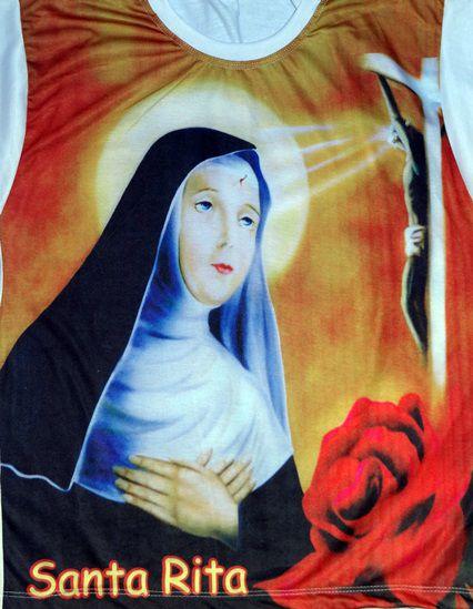 Camiseta Catolica  Religiosa Santa Rita