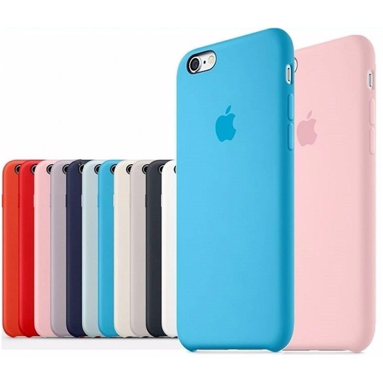 Capa Com Logo Iphone 6 6s 7 8 Capinha Case Silicone Veludo