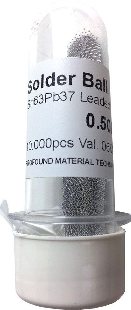 Solda Esfera Bga Pote x 10k 10.000 - 0.50mm (Com Chumbo)
