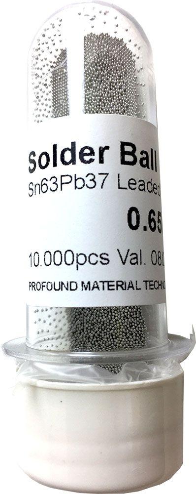 Solda Esfera Bga Pote x 10k 10.000 - 0.65mm (Com Chumbo)