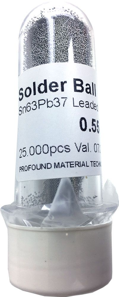 Solda Esfera Bga Pote x 25k 25.000 - 0.55mm (Com Chumbo)
