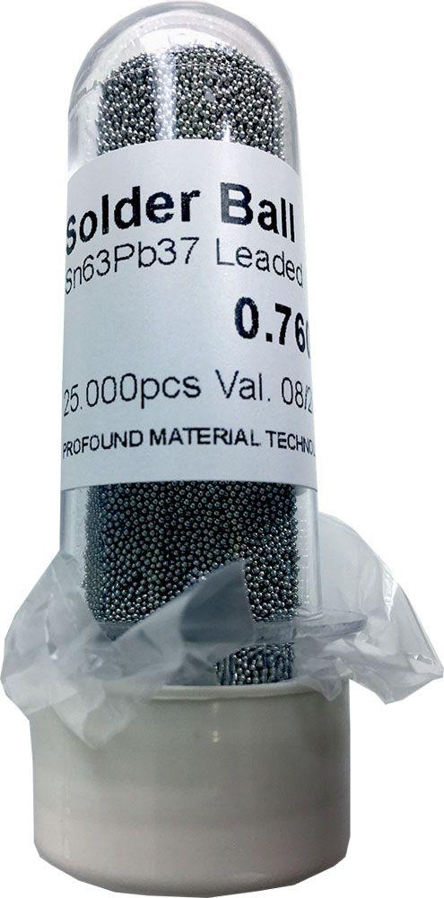 Solda Esfera Bga Pote x 25k 25.000 - 0.76mm (Com Chumbo)