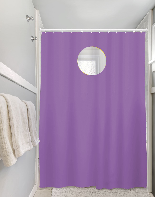 Cortina Box Para Banheiro Vinil Visor E Ganchos 1,35 x 2,00