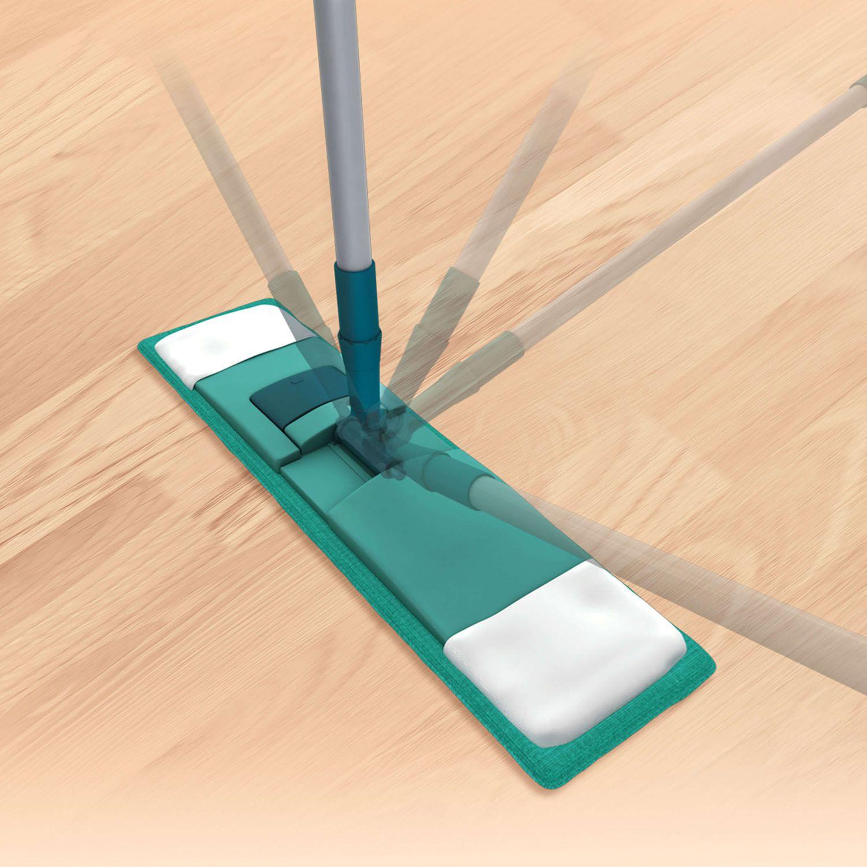 Esfregão Mop Flat Microfibra Cabo Telescópico Aço Flexível - 7657