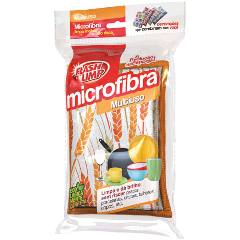 Esponja de Microfibra Multiuso Estampada Limpa E Da Brilho