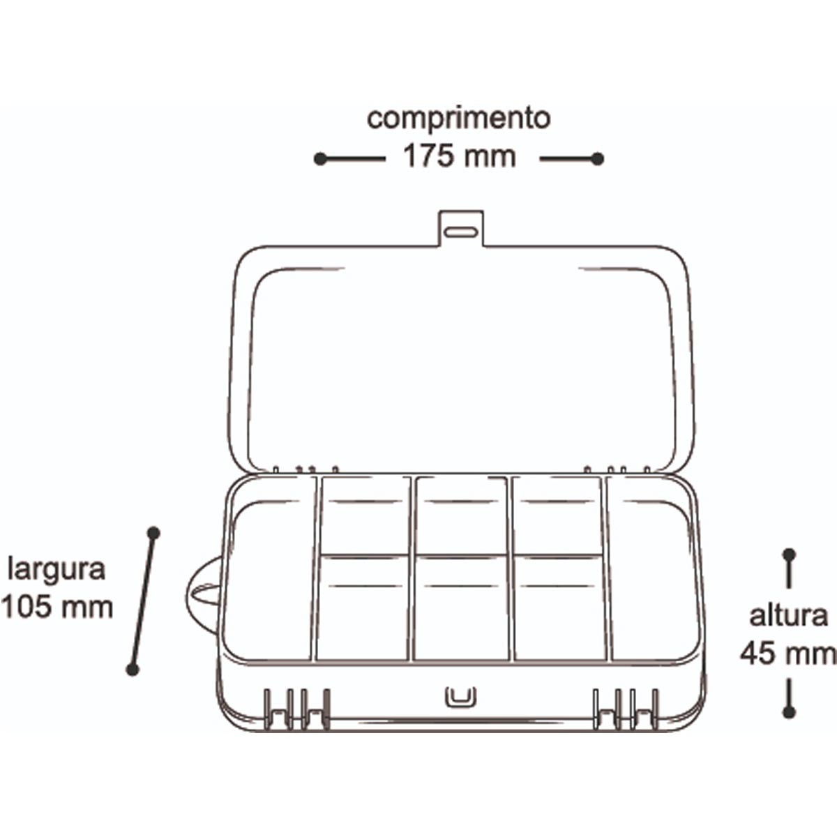 """Estojo Organizador Arqplast Mini Double DC 8002 7"""" 25396"""