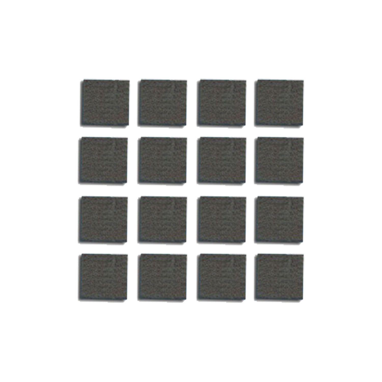 Feltro Protetor Pé Objetos Quadrado Auto Adesivo 16pcs 2x2cm - 093