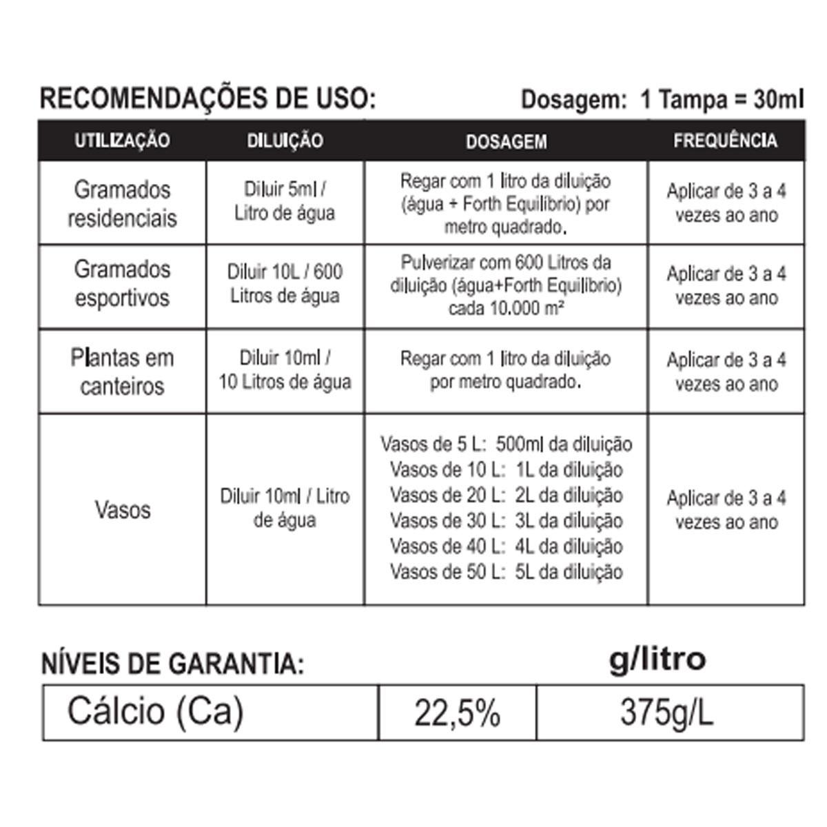 Fertilizante Concentrado Forth Equilíbrio 500ml