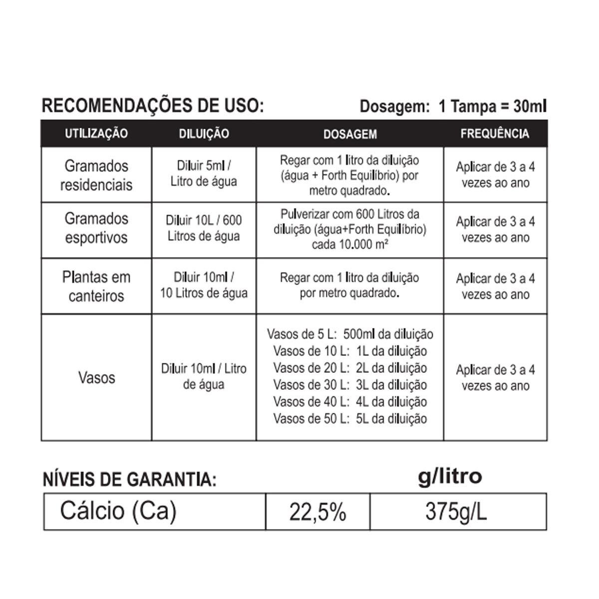 Fertilizante Forth Equilíbrio 1 litro