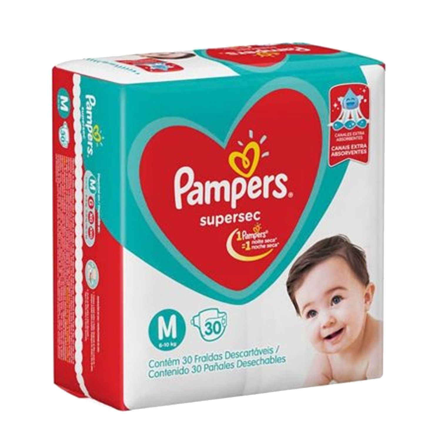 Fralda Pampers Supersec M Com 30 Unidades
