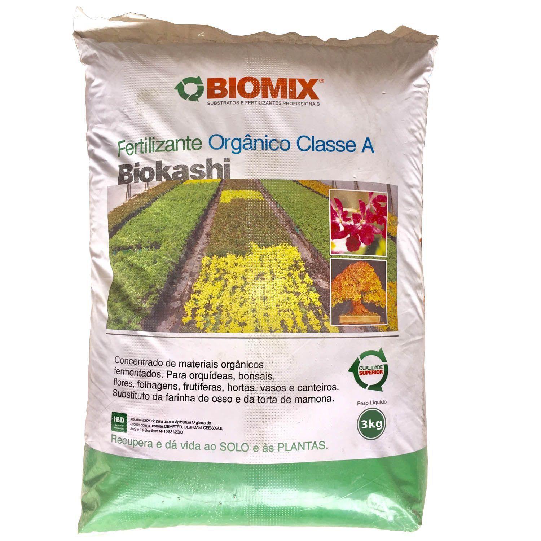 Adubo Fertilizante Orgânico Biokashi Biomix 3kg Bokashi