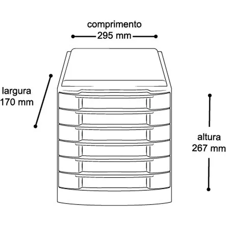 Gaveteiro Organizador Multiuso 42 Divisórias 6 Gavetas Caixa 7010