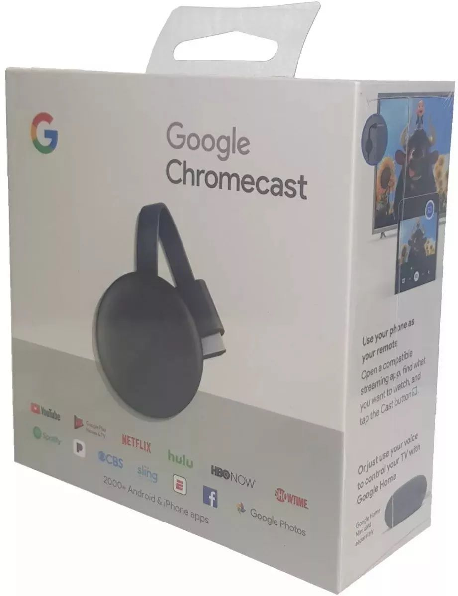 Google Chromecast 3 2019 Hdmi 1080p 60fps Streaming Smart Tv