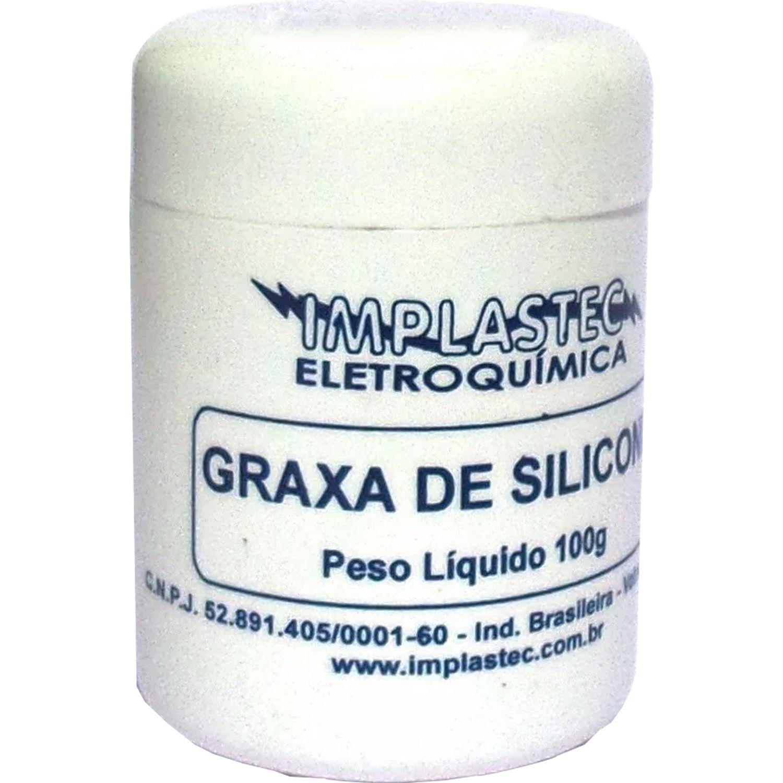 Graxa Silicone 100g Airguns Airsoft Dieletrica Eletronica Implastec