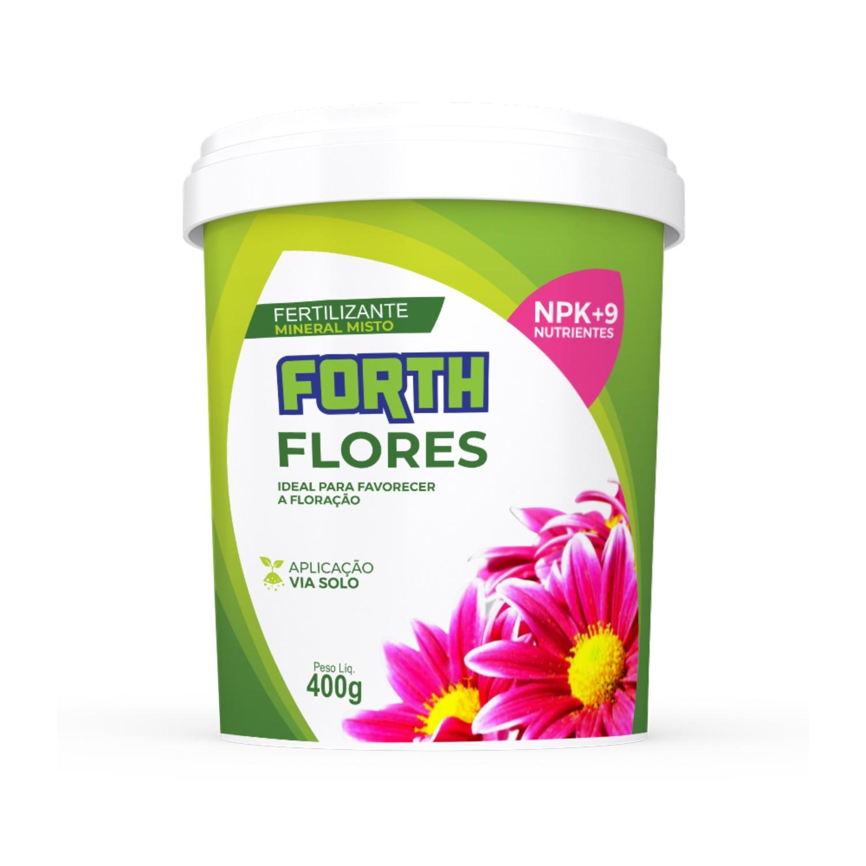 Kit 03 Adubo Fertilizante Forth Flores 400g
