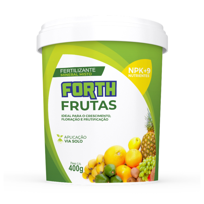 Kit 03 Adubo Fertilizante Forth Frutas 400g