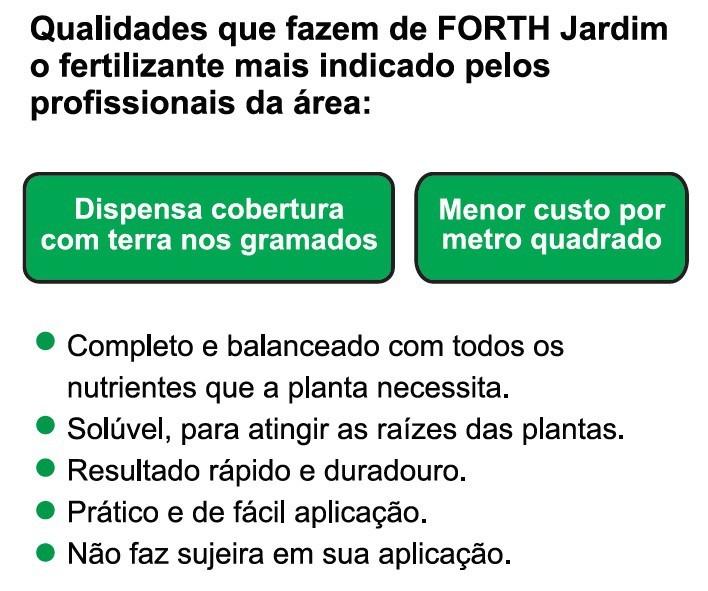 Kit 03 Adubo Fertilizante Forth Jardim 400g