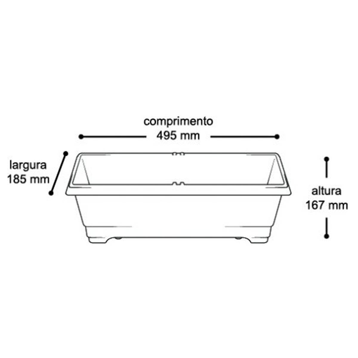 Kit 03 Vaso Jardineira Arqplast Terracota 8 Litros 16,7x18,5x49,5Cm