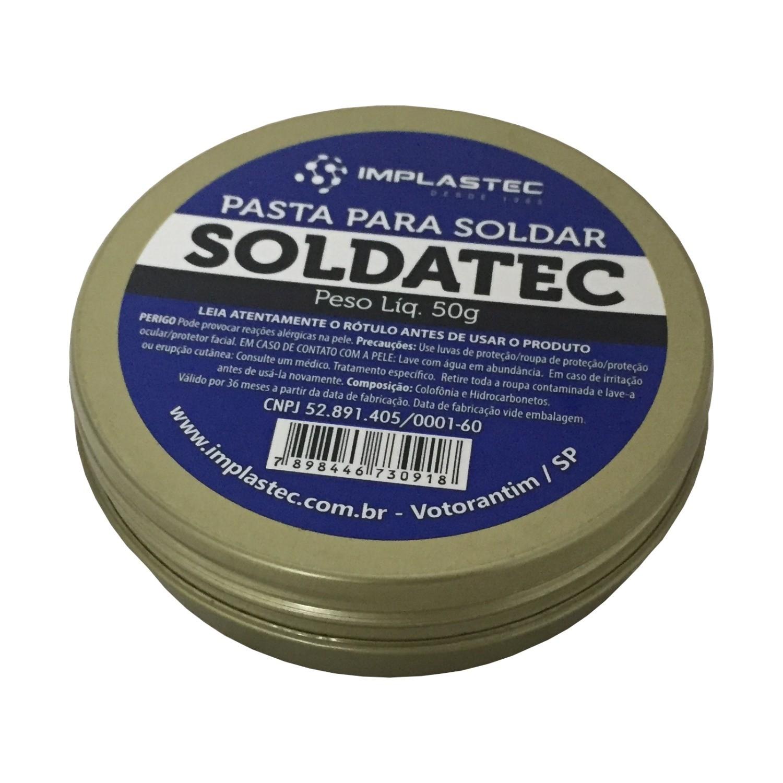 Kit 5 Pasta Soldatec Solda Fluxo Implastec Pastoso 50g Bga