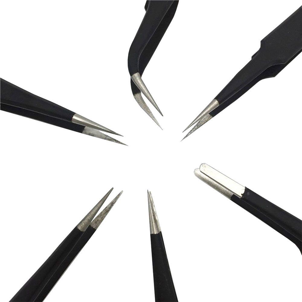Kit 6 Pincas Toyo Anti Estatica Magnetica Esd Bga Reballing