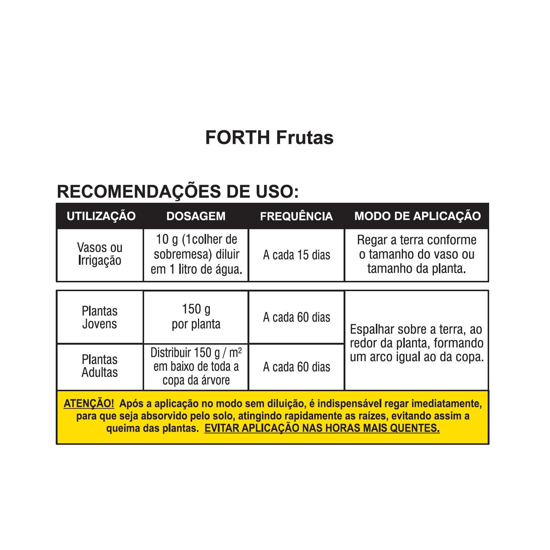 Kit Fertilizante Forth Flores e Frutas 400g Adubo