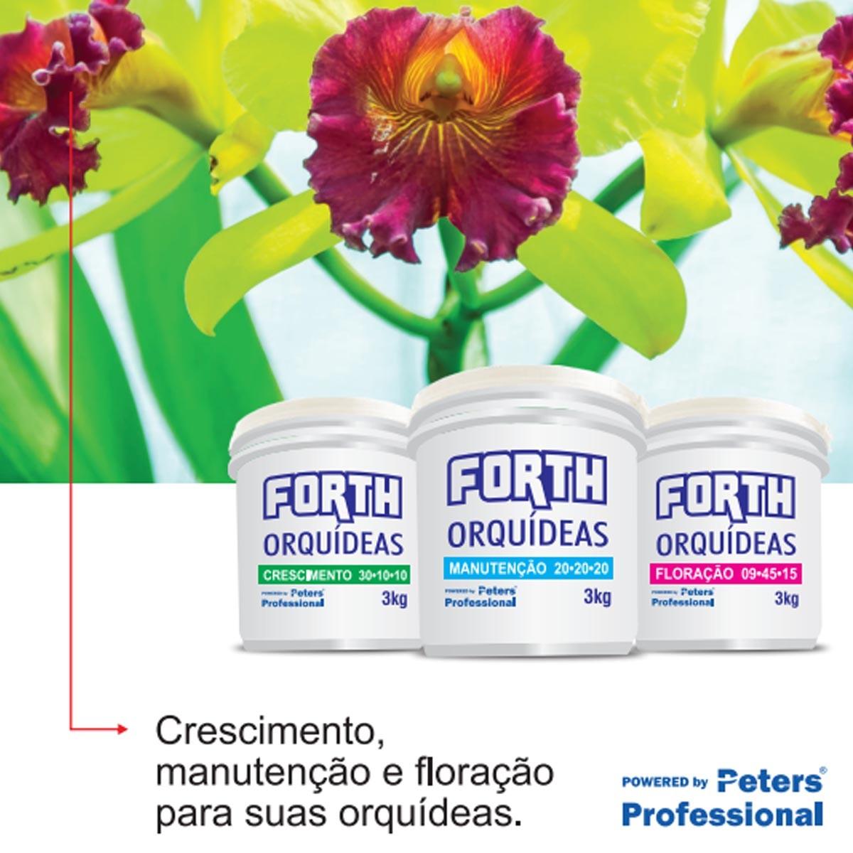 Kit Fertilizante Forth Orquídea Crescimento Floração Manutenção Enraizador