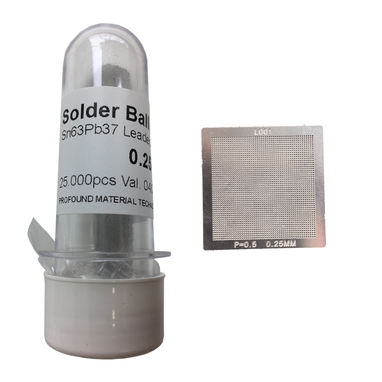 Kit Stencil Universal 0,25mm Solda Esfera 25k Bga Reballing