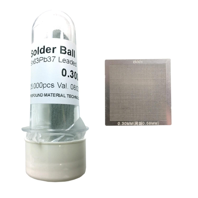 Kit Stencil Universal 0,3mm Solda Esfera 25k Bga Reballing