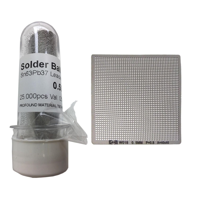 Kit Stencil Universal 0,5mm Solda Esfera 25k Bga Reballing