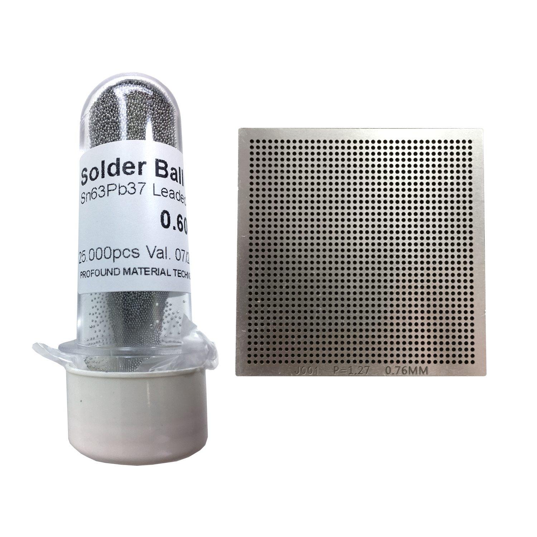 Kit Stencil Universal 0,76mm Solda Esfera 25k Bga Reballing