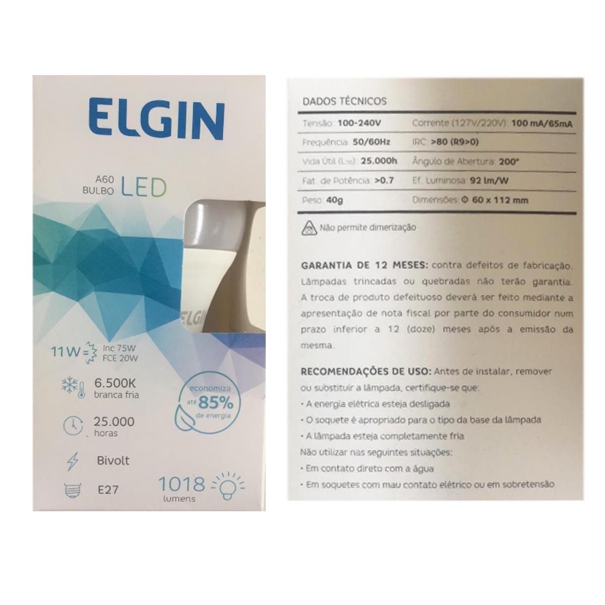 Lâmpada Elgin Led Bulbo A60 11w E27 6500K Bivolt