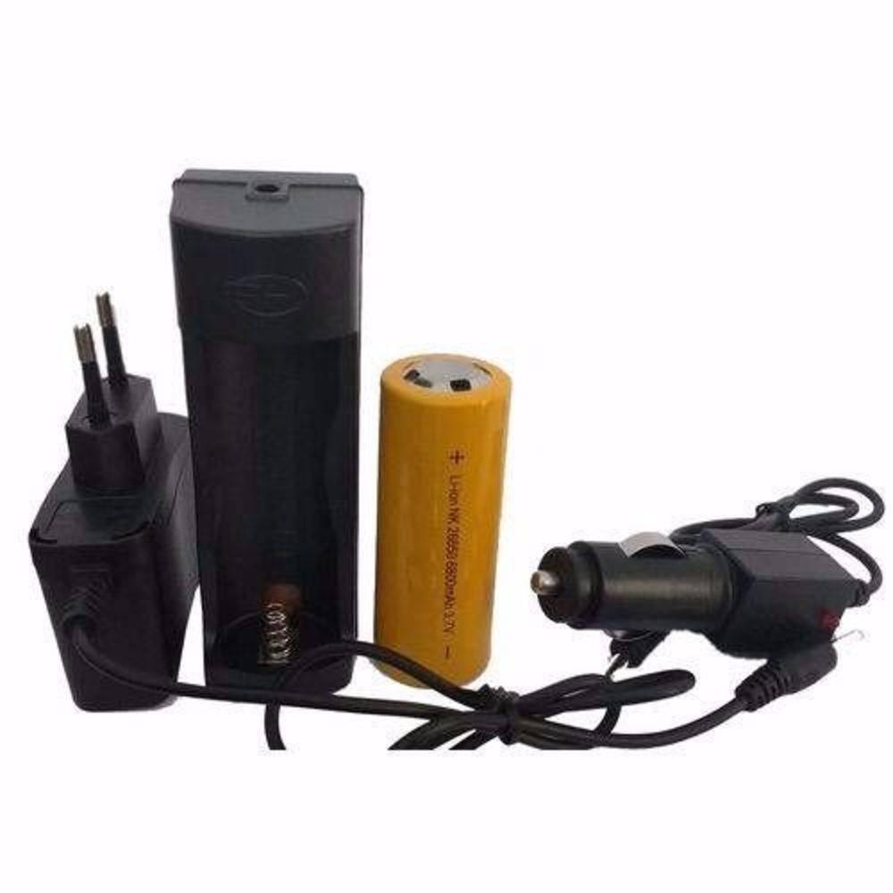 Lanterna Tatica Militar x900 Recarregavel Com Zoom Completa
