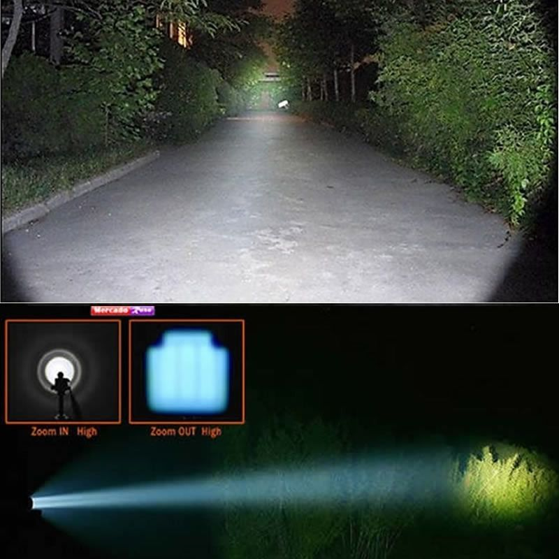 Lanterna Tatica Profissional Cree Led Recarregavel