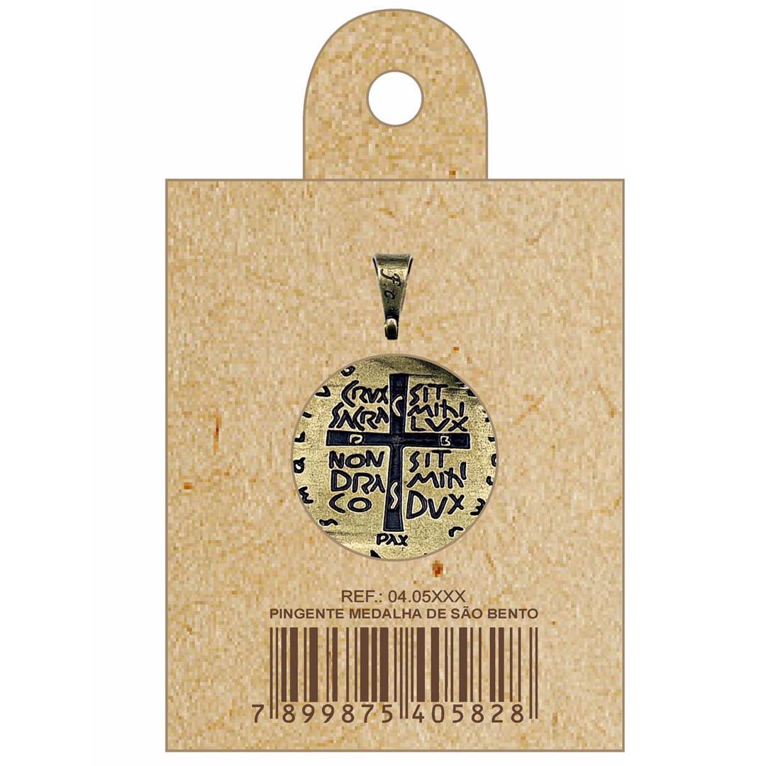 Medalha das Duas Cruzes Canção Nova Ouro Velho 22 mm