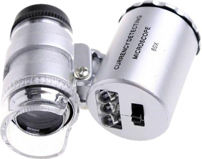 Microscopio 60x Mini Bolso LED Ultravioleta Lupa Conta-Fios