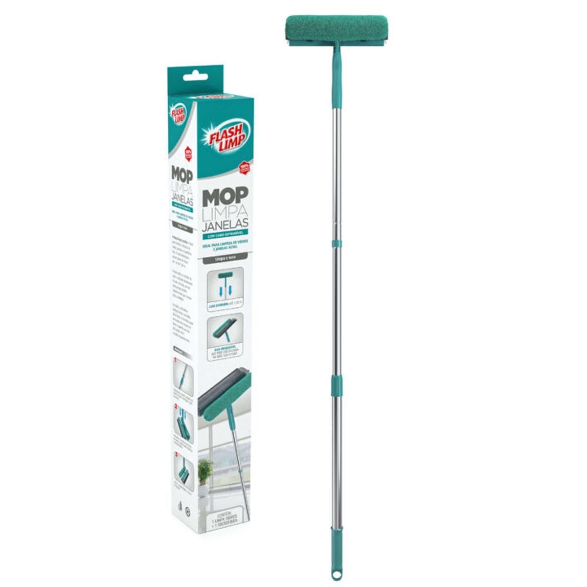 Mop Limpa Vidros Flash Limp 2 em 1 MOP6071