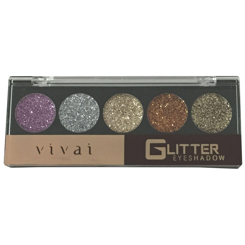 Paleta de Sombras Para Maquiagem Glitter Eyeshadow 5 Cores
