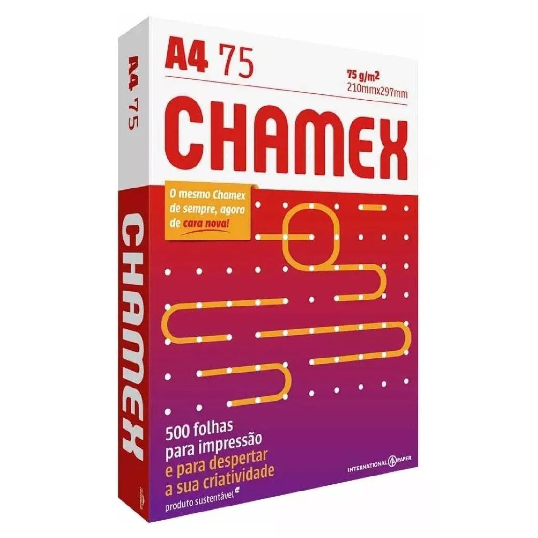 Papel Sulfite A4 Chamex Office Pacote 500 Folhas